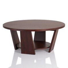 Shop For Furniture Of America U0027Amberu0027 Round Vintage Walnut Coffee Table.  Get Free · Furniture OutletOnline ...