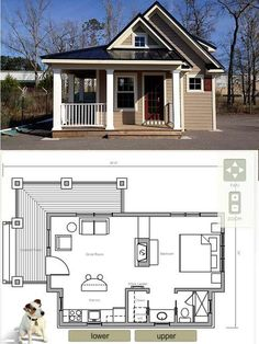 House in a Box:  http://www.houseinabox.com/ no up stairs - just tall ceilings with windows for light....