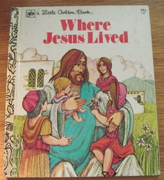 Where Jesus Lived 1977 Vintage Little Golden - Jane Werner Watson by BirdhouseBooks on Etsy