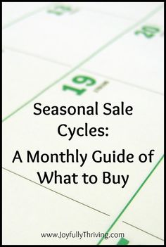 One of the best ways to save on your grocery bill - even without coupons - is to shop the seasonal sale cycles. Download this free printable to help you save money on your groceries all year! Pinned 2700 times and counting.
