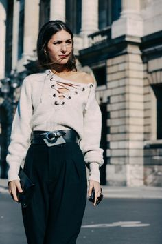 The Isabel Marant lace-up sweater is a must-have for fall.
