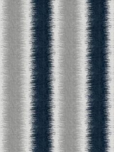 Remarkable jacquard pattern indigo upholstery fabric by Fabricut. Item 6437401…