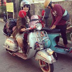 Mami 63 tahun, keliling indonesia dengan vespa sprint-nya! #ladyscooter #vespa #oldlady #vespasprint