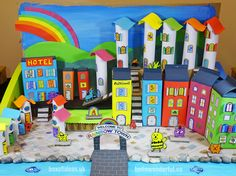 hello, Wonderful - HOW TO CREATE A RECYCLED RAINBOW TOWN WITH KIDS