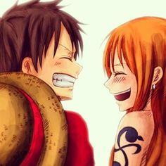 Monkey D. Luffy & Nami - One Piece,Anime