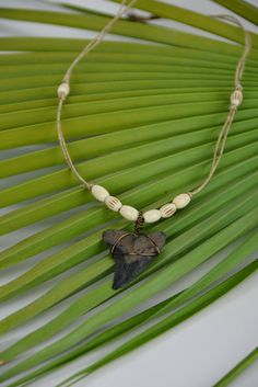 Snaggle Shark Tooth Necklace by JustBeadHappy2 on Etsy, $28.00