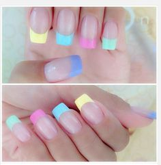 French Manicure...Easter Style!