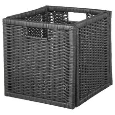 "Size: 12 ½ "" The handwoven rattan gives each basket a distinct and natural expression. This stable basket has many potential uses and is dimensioned for KALLAX shelving, giving it a unique look and function. Liatorp, Kallax Shelving Unit, Shelves, Kallax Insert, Wood Hinges, Acacia Wood, Solid Pine, Plastic Laundry Basket, Woodworking"