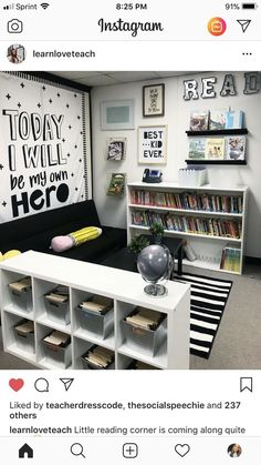 46 Ideas for classroom library seating playrooms 3rd Grade Classroom, Classroom Setup, Classroom Design, Future Classroom, Classroom Organization, Classroom Management, Classroom Board, Elementary Classroom Themes, Classroom Reading Nook