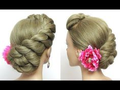 Beautiful Hairstyles. Easy Wedding Hairstyle. Twist Updo - YouTube #frenchtwistupdo