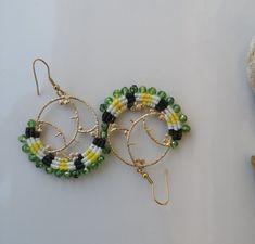 Macrame Earrings / Macrame Hoop Earrings / Colourful | Etsy Tassel Bracelet, Macrame Earrings, Shell Bracelet, Hoop Earrings, Beach Bracelets, Summer Jewelry, Adjustable Bracelet, Beautiful Earrings, Earrings Handmade