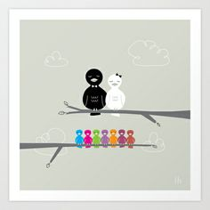The Happy Family Art Print by gretazserbo - $19.00