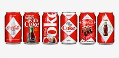 Peter Gregson Coca Cola Collectible cans. Designed to celebrate Coca-Cola's 125th anniversary