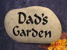 """Engraved Garden Stones/Markers/Gifts, Garden Art, Garden Decor, Garden Gift, Garden Marker, Garden Welcome Stone, Personalized- apx. 10""""-11"""""""