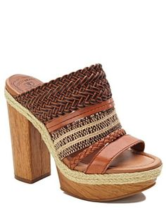 Mika Woven-Leather Heels - Shoes - Lucky Brand Jeans