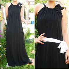 NWT Scoop halter Neck Fashion Long Maxi Dress Black Long Dress plus size 3XL | eBay