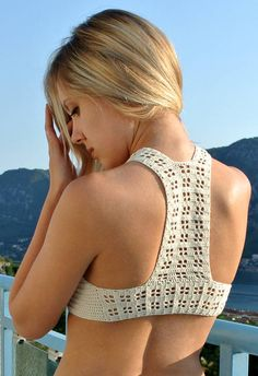 Crochet Halter Top Free Pattern - CROCHET  - Holiday crafts, Knitting, sewing, crochet, tutorials, children crafts, jewelry, needlework, swaps, papercrafts, cooking and so much more on Craftster.org