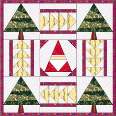 Mini Christmas Quilt - Foundation piecing pattern
