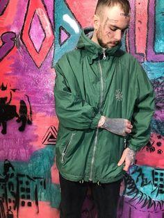 6ae9947a472 Green Vintage Mens Windbreaker 90s 80s Retro Raincoat Size S Rave Jacket  Party Jacket Track jacket S