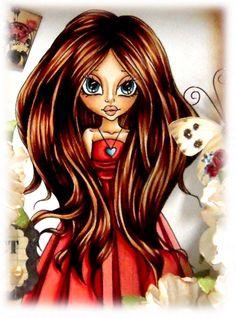 2012.09.02_Make it Crafty Zoe 2     Skin: E000, E00, E21, E11, R11  Hair: E21, E25, E29  Dress: R32, R35, R37