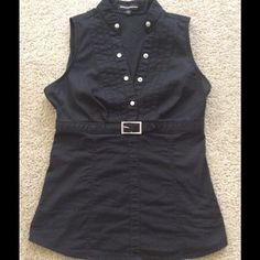 Express top Black express top. Too small on me now  worn and washed twice. Good condition. Side zipper works great. In my opinion this fits on the smaller side. Smoke free house. Express Tops Blouses