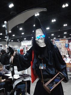 Death from The Discworld (I would start squealing like the fangirl I am if I saw this cosplay in person!)