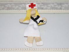 Custom Nurse Hair Clip, Nurse Ribbon Sculpture, Nurse Brooch, Ribbon Sculpture