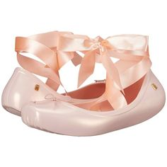 Melissa Shoes Ballet (Light Pink) Women's Shoes ($55) ❤ liked on Polyvore featuring shoes, flats, pink, flat pumps, pink ballet shoes, pink shoes, pink flats and light pink shoes