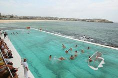 Possibly the coolest pool to play water polo in...ever! Water Polo by the Sea match between Australia and the United States of America at Bondi Icebergs pool, Bondi Beach on January 4, 2012 in Sydney, Australia