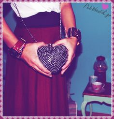 #bag #heart #clutch #vintage #girly #romantic #boutik #