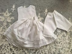 Antique Three Piece Slip, Chemise, Bloomers for China Head Dolls Hand Stitched
