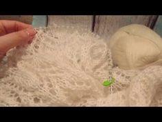 ВЯЗАНИЕ СПИЦАМИ: Вяжем ШАЛЬ спицами. Мастер класс по вязанию шали - YouTube