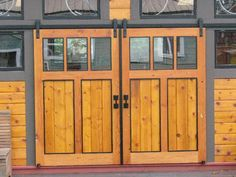 exterior sliding door designs - these work for interior doors as well and make a nice easy access to closets and rooms with added decorative design!