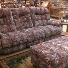 Camo Couch, Ottoman, And Recliner. Cabelau0027s.
