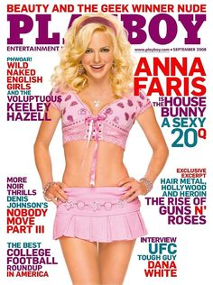 Playboy Magazine September 2008 Anna Faris the Playmate House Bunny! Cover: Anna Faris Features: Anna Faris, the comedic actress of Scary Movie and. Anna Faris, Beauty And The Geek, The House Bunny, Magazine Cover Page, Playboy Enterprises, The Playboy Club, Vintage Playmates, English Girls, Male Magazine