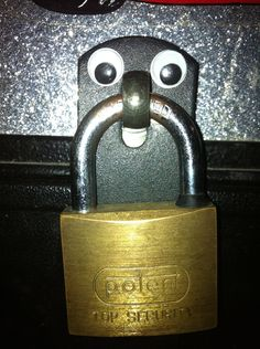"""eyebombing- a wonderful hobby!  Keep googly eyes in your purse, you never know where you may """"see"""" a need for them! 0.0"""
