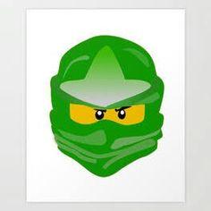 Ninjago face Lego Ninjago, Ninjago Party, Ninja Cake, Green Art, 5th Birthday, Original Art, Art Prints, Face, Artist