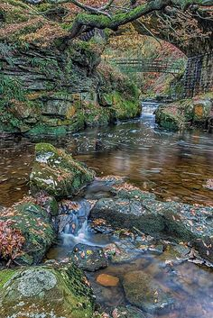 A hidden gem. Beck Hole and Malleyn Spout, Goathland, North Yorkshire, England. Beck Hole is a small valley village in the Borough of Scarborough. Yorkshire England, Yorkshire Dales, North Yorkshire, Cornwall England, Places To Travel, Places To See, Beautiful World, Beautiful Places, Château Fort