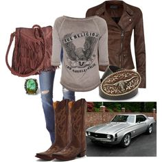 """Fastest Girl in Town"" by thecowgirlwaymagazine on Polyvore"