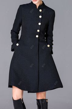 Button Down Skirted Coat