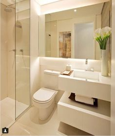 modern Bathroom by Chris Silveira & Arquitetos Associados Source by I do not take credit for the images in this post. Washroom Design, Bathroom Design Small, Bathroom Interior Design, Modern Bathroom, Modern Sink, Master Bathroom, Bad Inspiration, Bathroom Inspiration, Small Sink