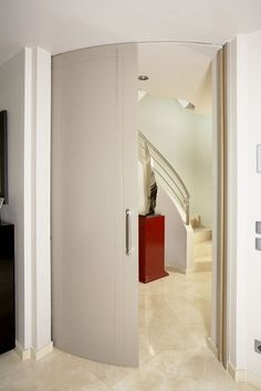 puerta corredera curva
