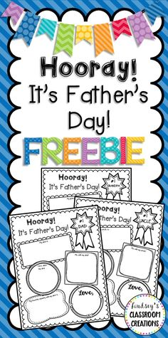 Awesome Father's Day Writing Activity FREEBIE for your K-2 students! Grandpa and uncle options are included too!!!!