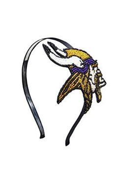 NFL Minnesota Vikings The Grace Collection Sequins and Beads Horseshoe Hairband, 6 x 5 x 2.23-Inch, Yellow