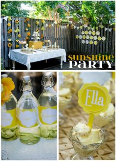 Sunshine Party...cute idea if Mel want to do a sprinkler party again.