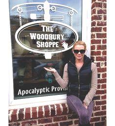 Laurie Holden outside of The Woodbury Shoppe, Senoia, GA