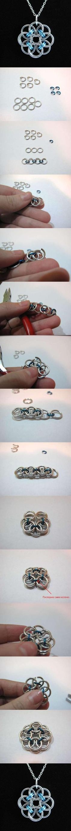 DIY Rose Wire Pendant by kater65