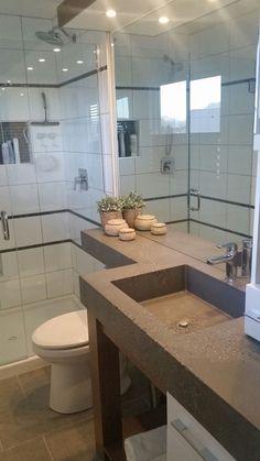 Corner Bathtub, Sinks, Powder Room, Bathrooms, House Design, Home, Trough Sink, Toilets, Lowboy