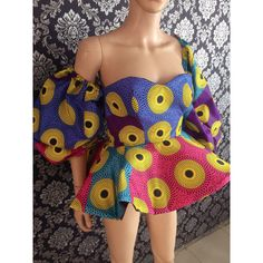 Made by @bibisquintessence Strapless Dress, Shoulder Dress, African, Summer Dresses, Womens Fashion, Tops, Style, Strapless Gown, Summer Sundresses