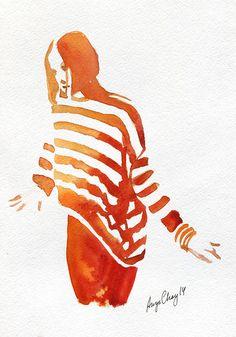 fashion stripes on Behance